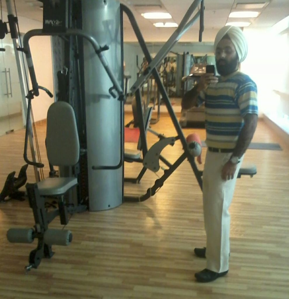 Pritpal at gym in August 2014
