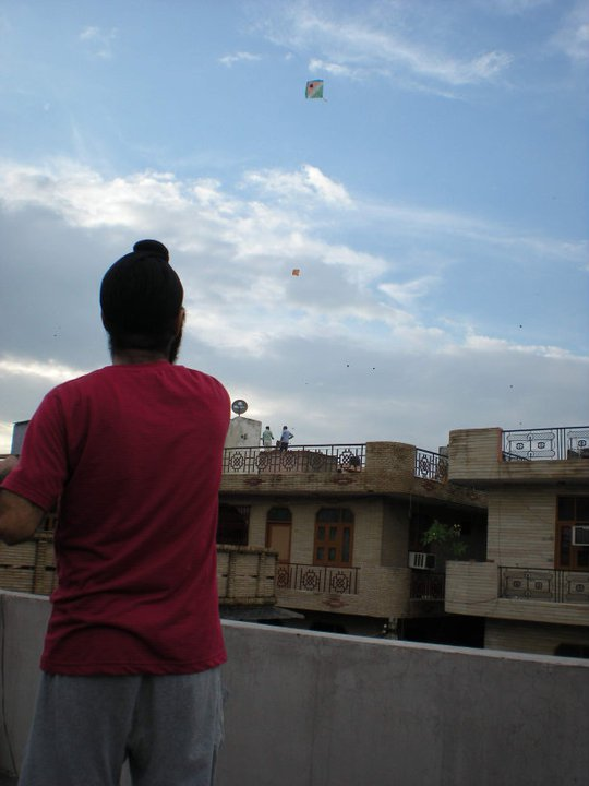 Pritpal flying a Kite on 15th August 2011